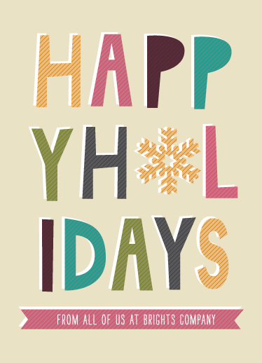 corporate holiday cards - Festive Holidays by Serenity Avenue