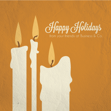 business holiday cards - Candles by Josh Malchuk