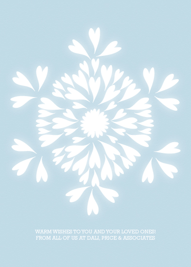 business holiday cards - Snowflake Glow by Sublime Paperie