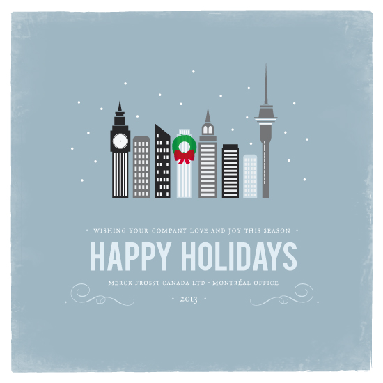 business holiday cards - Winter Cityscape by Angelene