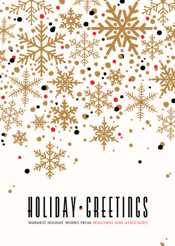 corporate holiday cards - Sophisticated Snow by Melissa Egan of Pistols