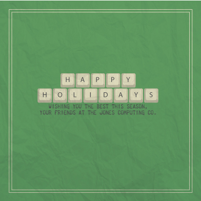 business holiday cards - Keyboard Wishes by Josh Malchuk