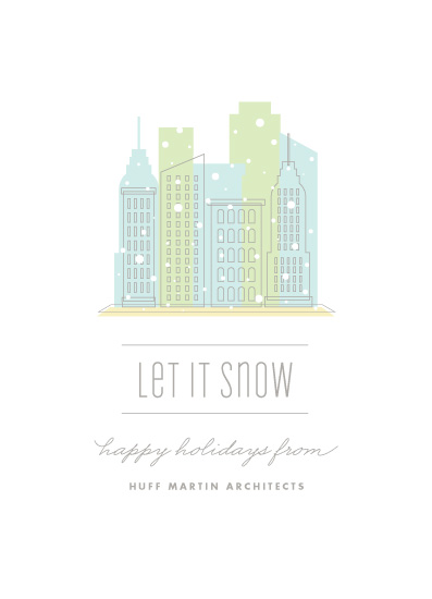 corporate holiday cards - City Flurry by Olivia Raufman