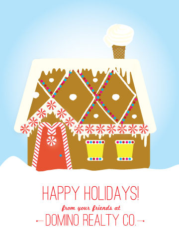 business holiday cards - Sweet Gingerbread House by Sublime Paperie