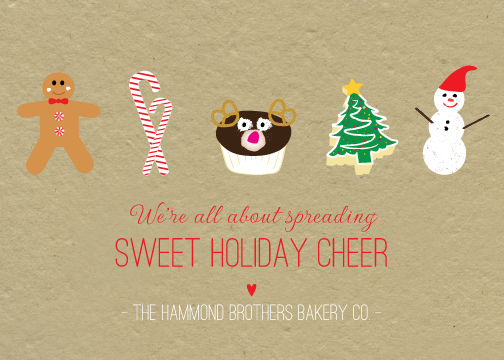 business holiday cards - Sweet Yummy Holiday Goods by Sublime Paperie