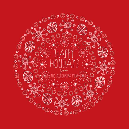 corporate holiday cards - Circular Snowflakes by Tami Bohn