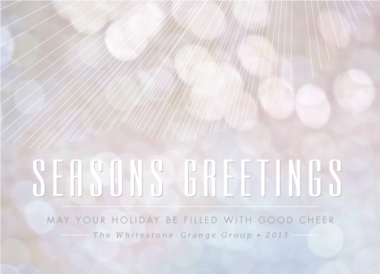 business holiday cards - Softest Rays by Wendy Van Ryn