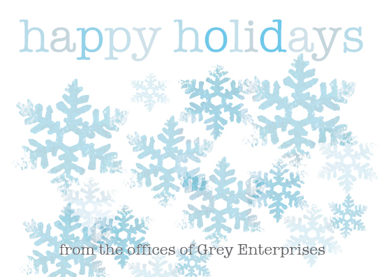 business holiday cards - Stamped Snowflakes by Elisabeth Lein