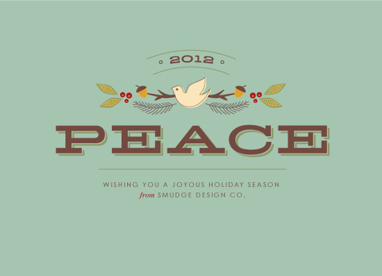corporate holiday cards - Peaceful Wishes by Smudge Design