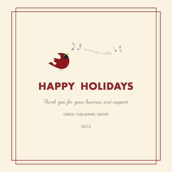 business holiday cards - Holiday Cardinal by Marcela Cebrowski