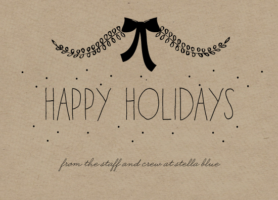 business holiday cards - Stella Blue by Susan Brown