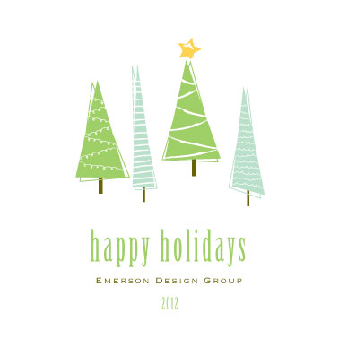 business holiday cards - Festive Trees by Michelle Enderton