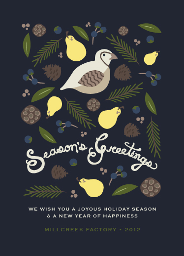 business holiday cards - Season of Greens by Serenity Avenue