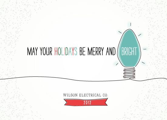 business holiday cards - Bright Idea by Ellis
