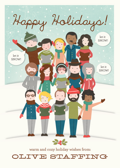 corporate holiday cards - The Gangs All Here! by leslie hamer