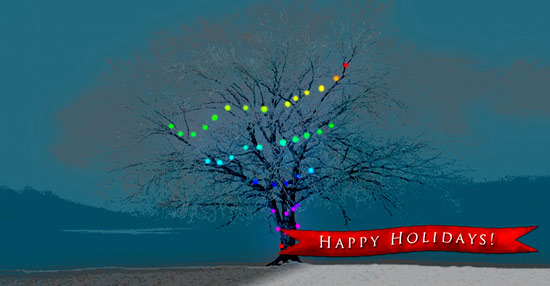 art prints - Happy Holidays by Jessica Termini