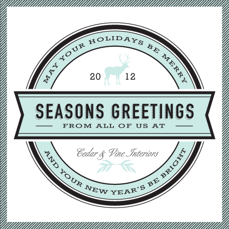corporate holiday cards - authentic by trbdesign