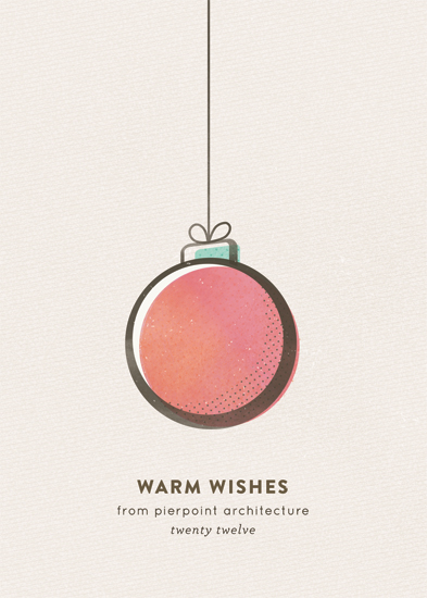 corporate holiday cards - retro ornament by nocciola design
