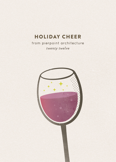 business holiday cards - retro cheer by nocciola design