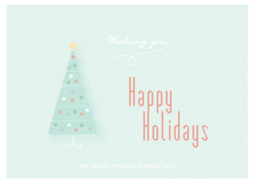 corporate holiday cards - Happy tree by Giselle Zimmerman