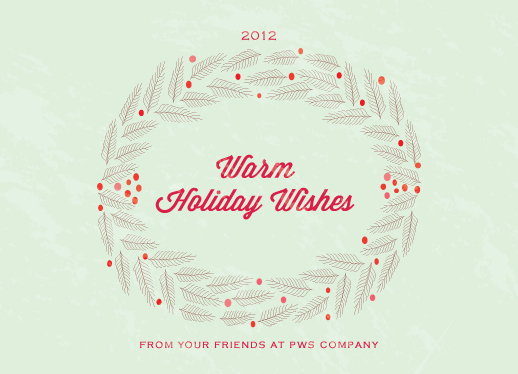 business holiday cards - Fir Branches Wreath by Monica Schafer