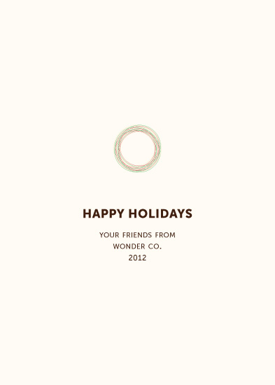 corporate holiday cards - Small Wreath by Marcela Cebrowski