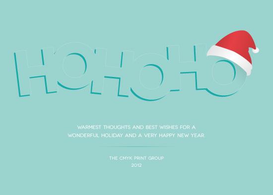 business holiday cards - HoHoHo! by Marcela Cebrowski