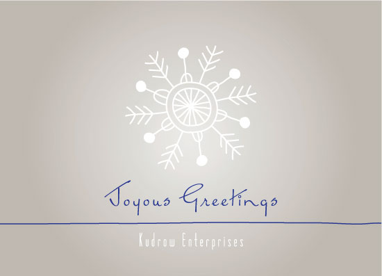 corporate holiday cards - Joyous snowflake by Emily