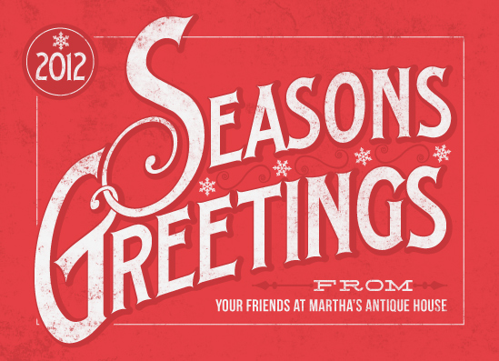 business holiday cards - Classic Greetings by GeekInk Design