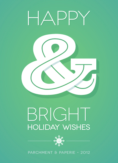corporate holiday cards - Wishful Ampersand by GeekInk Design