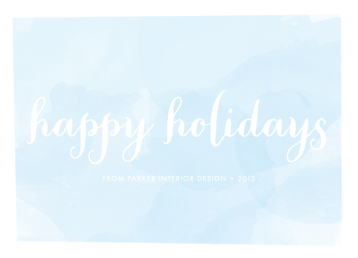 business holiday cards - blue watercolor by jmelianne