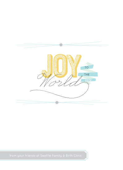 business holiday cards - Signing Joy to the World! by la Happy