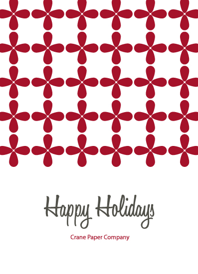 corporate holiday cards - Red Petals by Kampai Designs