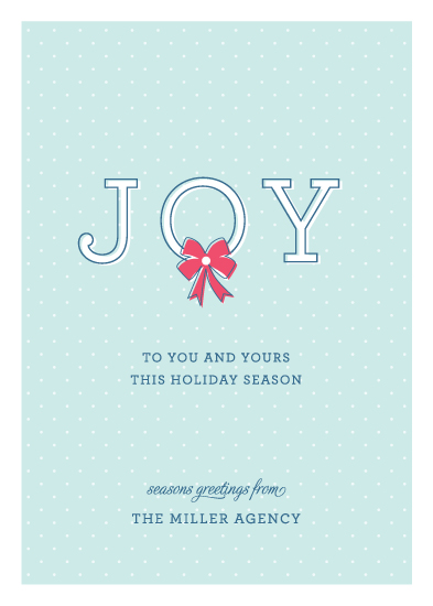 corporate holiday cards - Joy To You by Kimberly FitzSimons
