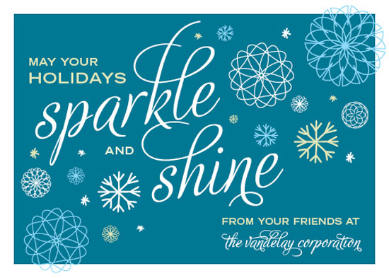 business holiday cards - Sparkle and Shine by Michelle Hickey