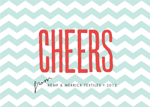 corporate holiday cards - zig zag cheers by trbdesign