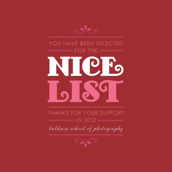 corporate holiday cards - Nice List by Ana Gonzalez