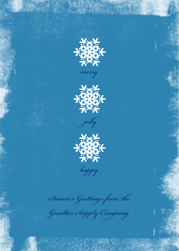 corporate holiday cards - Snowflakes by Anna Elder