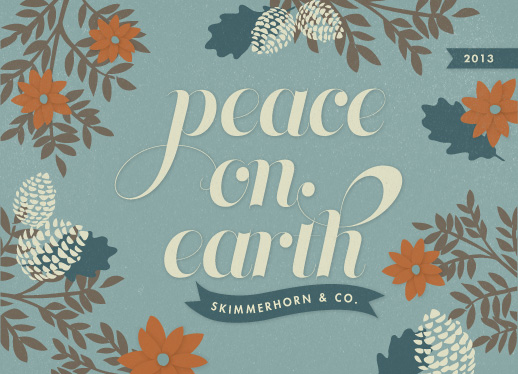 corporate holiday cards - Winter Peace by Snow and Ivy