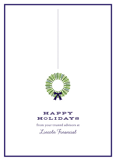 business holiday cards - simple stripe wreath by Sara Hicks Malone