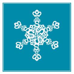 Typographical snowflake