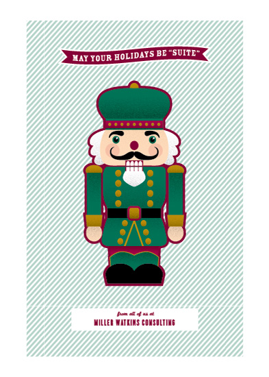 corporate holiday cards - Nutcracker Suite by Laura Bolter Design
