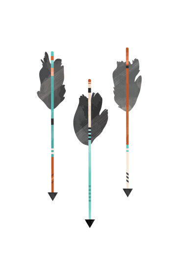 art prints - Feathered Arrows by Pistols