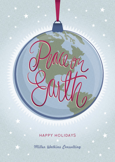 corporate holiday cards - Earth Ornament by Laura Bolter Design