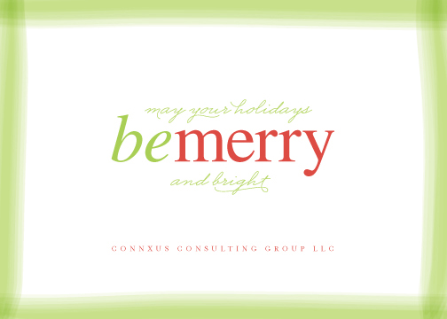 corporate holiday cards - wispy wishes by Carrie ONeal