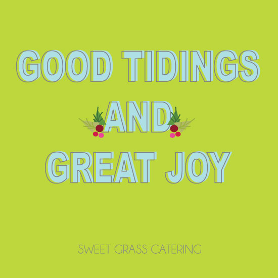 corporate holiday cards - Good Tidings by Olive Paper