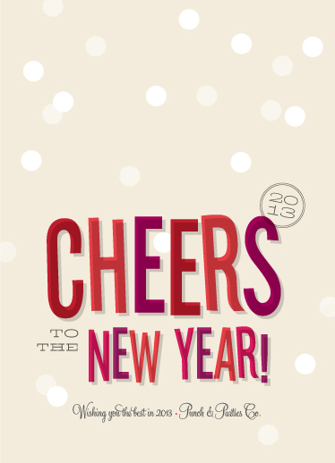 business holiday cards - Cheers, New Year! by Ann Gardner
