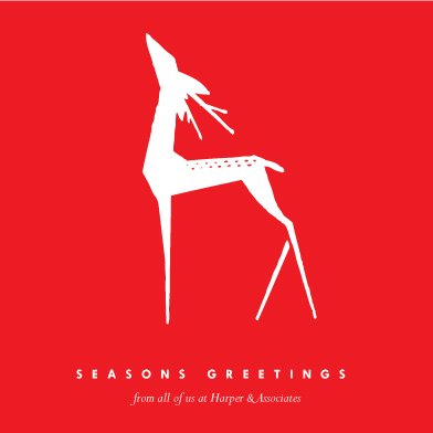 business holiday cards - Red Deer by Eleanor Mayrhofer