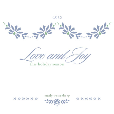 business holiday cards - Love and Joy by Maggie Ziomek