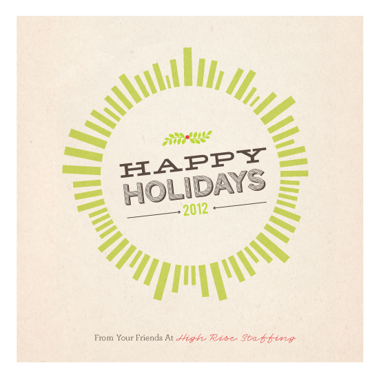 corporate holiday cards - Holiday Burst by chica design